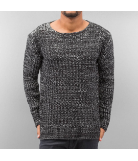 Pull Just Rhyse Knit Noir Gris Anthracite