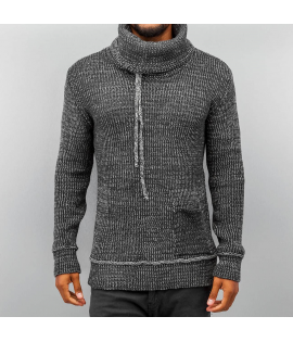 Pull Just Rhyse Knit Bone Gris Anthracite