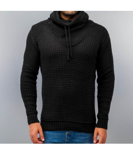 Pull Just Rhyse Rollneck Maille Noir