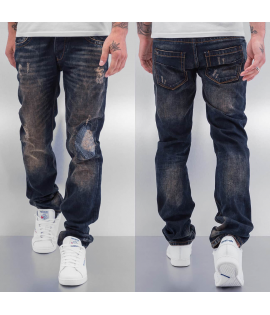 Jean Cazzy Clang Shattered Straight Fit Bleu