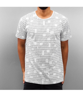 T-shirt Cazzy Clang Checked II Blanc