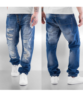 Jean Straight Fit Just Rhyse Ilay Destroyed Bleu