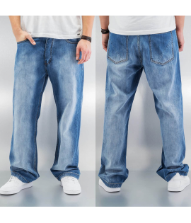 Baggy Jean Dangerous DNGRS Destroyed Classic Mid Ice Blue