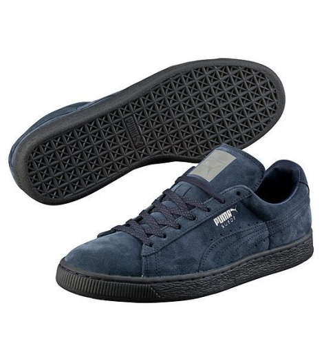 Chaussures Puma Suede High Navy Mono Iced Basket