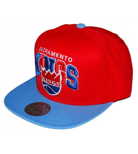 MITCHELL & NESS Snapback KINGS Rouge / Bleu ciel Tri-Pop