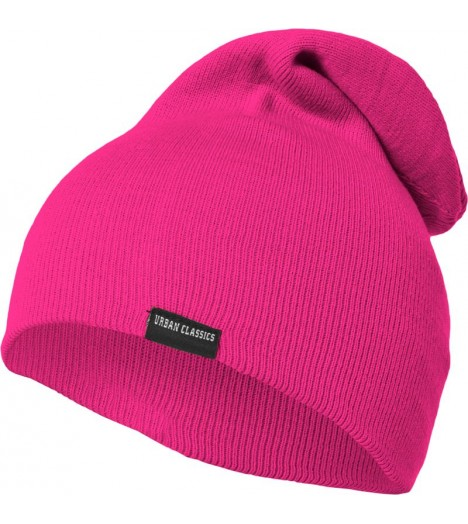 "Bonnet long URBAN CLASSICS Rose neon ""Long Beanie"" Oversize"