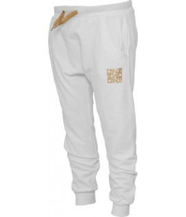 "Bas de jogging 3/4 URBAN DANSE Blanc / Or ""Dance Pant 3/4"""