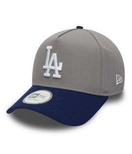 Casquette Trucker New Era LA Dodgers Poly Pop Gris Bleu Marine
