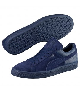 Chaussures Puma Suede Casual Embossed Bleu Marine