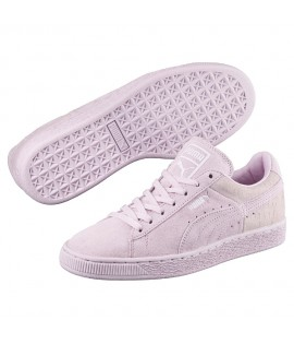 Chaussures Puma Suede Casual Embossed Lila Violet