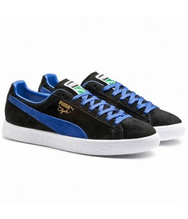 Chaussures Puma Clyde Black Electric Blue Select Suede