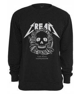 Sweat Mister Tee Cream Skull Crewneck Noir
