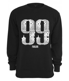 Sweat Mister Tee 99 Problems Bandana Crewneck Noir