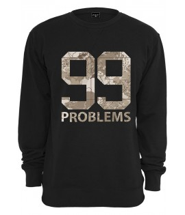 Sweat Mister Tee 99 Problems Desert Camo Crewneck Noir