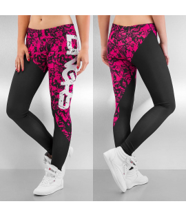 Legging Dangerous DNGRS Girls And Guns Noir Rose