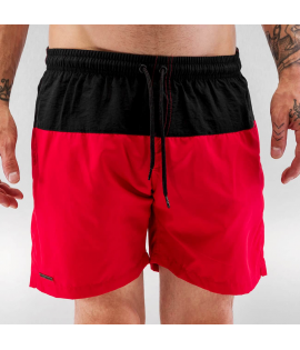 Short de Bain Just Rhyse Swim Short Noir Rouge