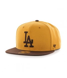 Casquette 47 Brand Los Angeles Dodgers No Shot Brun Snapback