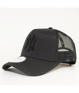Casquette Trucker New Era NY Yankees Oxford Pastel Noir