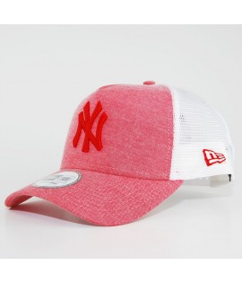 Casquette Trucker New Era NY Yankees Oxford Pastel Rouge