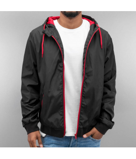 Coupe-Vent Just Rhyse Basic Windbreaker Noir Rouge