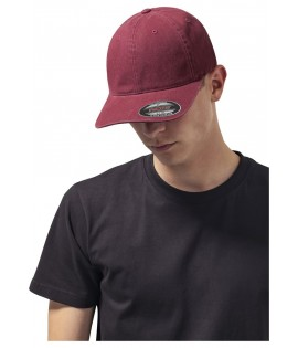 Casquette Incurvée Flexfit Bordeaux Dad Hat Garment Washed