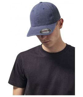 Casquette Incurvée Flexfit Bleu Marine Dad Hat Garment Washed