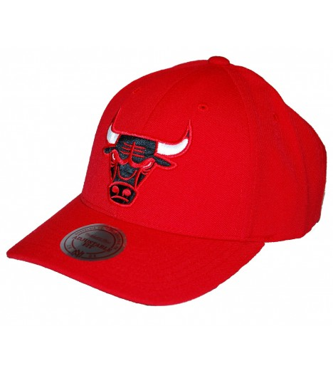 MITCHELL & NESS Snapback BULLS Chicago Rouge