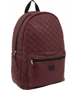 Sac à dos Urban Classics Bordeaux Diamond Aspect Cuir