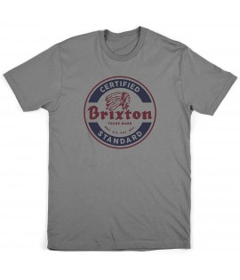 T-shirt Brixton Soto Tee Indian Gris Chiné