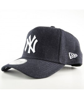 Casquette Trucker New Era New York Yankees Heather Bleu Marine