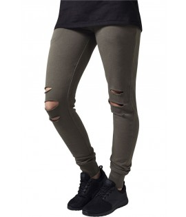 Jogging Destroy Femme Urban Classics Cutted Olive