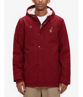 Veste Obey Hillman Jacket Rouge Bordeaux