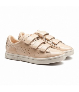 Chaussures Puma Court Star Velcro Nude Rose Blanc Basket