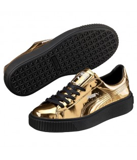 Chaussures Puma Platform Metallic Gold