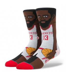 Chaussettes Stance James Harden Cartoon Houston Rockets NBA Legends