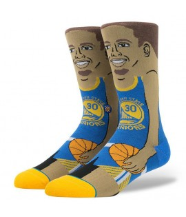 Chaussettes Stance Stephen Curry Cartoon Golden States Warriors NBA Legends