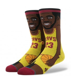 Chaussettes Stance Lebron James Cartoon Cleveland Cavaliers NBA Legends