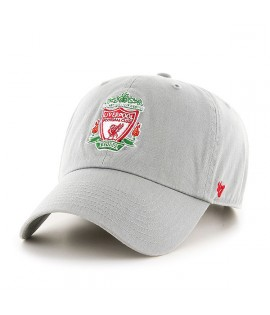Casquette 47 Brand Liverpool Football Club Logo Clean Up Gris