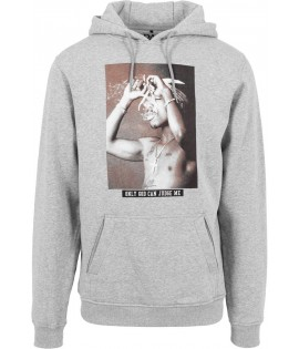 Sweat 2Pac x Mister Tee Only God Can Judge Me Hoody Gris