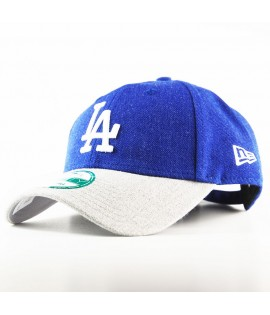Casquette New Era 940 Los Angeles Dodgers 9Forty Heather Team Bleu Royal Gris