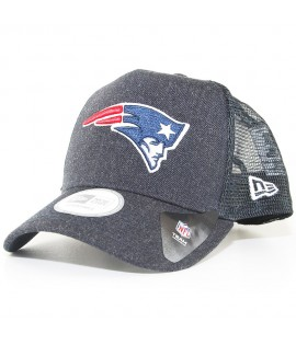 Casquette Trucker New Era New England Patriots Heather Team Bleu Marine Chiné