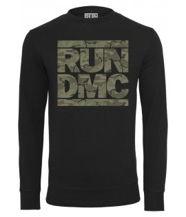 Sweat Run DMC x Mister Tee Camo Crewneck Noir