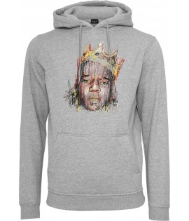 Sweat Capuche Mister Tee Sketch Biggie Hoody Gris Chiné