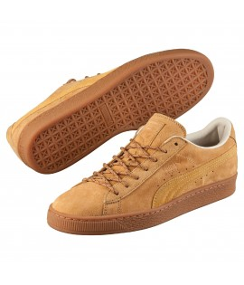 Chaussures Puma Basket Winterized Beige Semelle Gomme