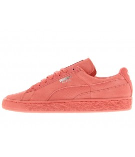 Chaussures Puma Suede Mono Reptile Rose Basket