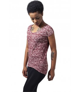 T-shirt Urban Classics Bordeaux Burnout
