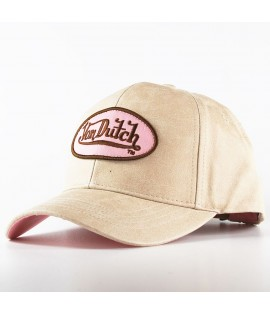 Casquette Trucker Von Dutch Cindy Beige Rose Baseball