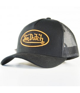 Casquette à Filet Von Dutch Matt Trucker Brun Noir Baseball
