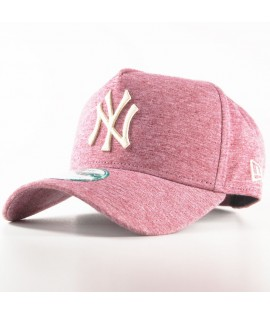 Casquette Trucker New Era NY Yankees Jersey Flock MLB Rouge Bordeaux