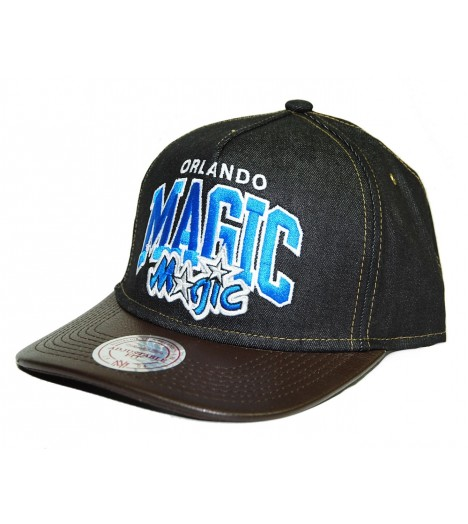Mitchell & Ness Snapback Magic Orlando Bleu Casquette Jean